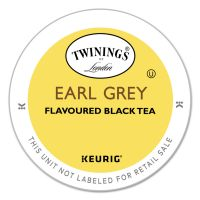 TWININGS Tea K-Cups, Earl Grey, 0.11 oz K-Cups, 24/Box TWG08756