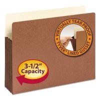 "Smead 3 1/2"" Exp File Pocket, Straight Tab, Letter, Manila/Redrope, 10/Bx SMD73264"