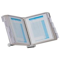 Durable SHERPA Desk Reference System, 10 Panels, 10 x 5 7/8 x 13 1/2, Gray Borders DBL554210