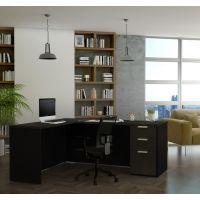 Bestar Pro-Concept Plus L-Desk in Deep Grey & Black BESBES11088532