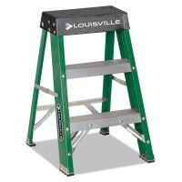 Louisville #624 Folding Fiberglass Locking 2-Step Stool, 17w x 22 Spread x 24h DADL321202