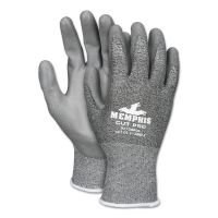 MCR Safety Memphis Cut Pro 92728PU Glove, Black/White/Gray, X-Large, Dozen CRW92728PUXL