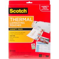 Scotch Variety Pack Thermal Laminator Pouches 3 Mil 65/Pkg NOTM400495