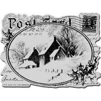 """Stampendous Christmas Cling Rubber Stamp 4""""X6"""" Sheet NOTM252713"""