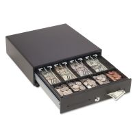 SteelMaster Touch Release Locking Cash Drawer w/Spring-Loaded Bill Weights, Black MMF2251046T04