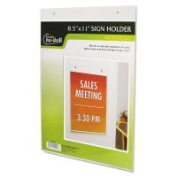 NuDell Clear Plastic Sign Holder, Wall Mount, 8 1/2 x 11 NUD38011Z