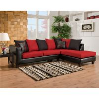 Flash Furniture Riverstone Victory Lane Cardinal Microfiber Sectional FHFRS418404SECGG