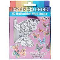 Joy Of Coloring 3D Wall Decor 16pcs NOTM136898