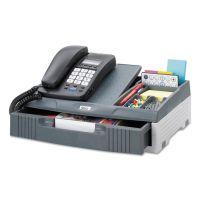 Safco Telephone Organizer Stand, 1 Drawer, 14 3/4 x 10 1/2 x 4 1/4, Gray SAF2204CH