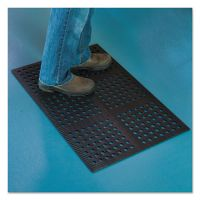 ES Robbins Pro Lite Four-Way Drain Mat, 24 x 36, Black ESR184714
