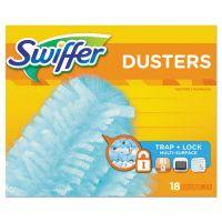 "Swiffer Dusters Refill, Dust Lock Fiber, 2"" x 6"", Light Blue, 72/Carton PGC99036"