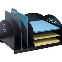 Safco Combination Rack Desktop File Organizer SAF3167BL