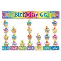 Scholastic Our Birthday Graph! Bulletin Board Set SHS0439492815