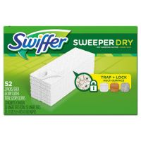 "Swiffer Dry Refill Cloths, 10 5/8"" x 8"", White, 208/Carton PGC99038"