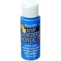 Deco Art Crafter's Acrylic Coastal Blue Acrylic Paint NOTM356097