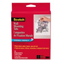 Scotch Precut Removable Mounting Tabs, Double-Sided, 1/2 x 3/4, 480/Pack MMM7225
