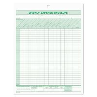TOPS Weekly Expense Envelope, 8 1/2 x 11, 20 Forms TOP1242