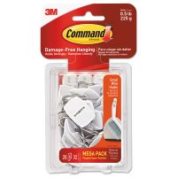 Command General Purpose Hooks, Small, 0.5lb Cap, White, 28 Hooks & 32 Strips/Pack MMM17067MPES
