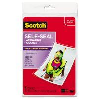 Scotch Self-Sealing Laminating Pouches, 9.5 mil, 4 3/8 x 6 3/8, Photo Size, 5/Pack MMMPL900G