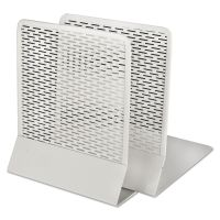 Artistic Urban Collection Punched Metal Bookends, 6 1/2 x 6 1/2 x 5 1/2, White AOPART20008WH