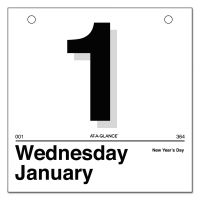AT-A-GLANCE Today Is Daily Wall Calendar Refill, 6 x 6, White, 2019 AAGK150