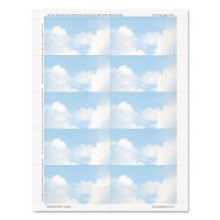 Geographics Clouds Design Business Suite Cards, 3 1/2 x 2, 65 lb Cardstock, 250 Cards/Pack GEO47372S