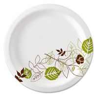 "Dixie Pathways Soak-Proof Shield Mediumweight Paper Plates, 8 1/2"", Grn/Burg, 125/Pk DXEUX9WSPK"