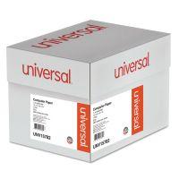 Universal Green Bar Computer Paper, 20lb, 14-7/8 x 8-1/2, Perforated Margins, 2600 Sheets UNV15782