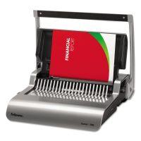 Fellowes Quasar 500 Manual Comb Binding System, 18 1/8 x 15 3/8 x 5 1/8, Metallic Gray FEL5227201