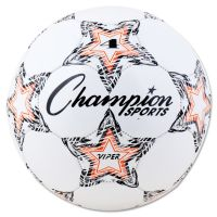 """Champion Sports VIPER Soccer Ball, Size 4, 8""""- 8 1/4"""" dia., White CSIVIPER4"""