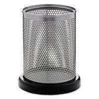 Rolodex Distinctions Pencil Cup, 3 1/2 dia. x 4 1/2, Metal/Black ROLE23569
