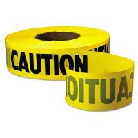 "Empire Caution Barricade Tape, ""Caution"" Text, 3"" x 1000ft, Yellow/Black EML771001"