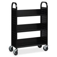 Lorell Single-sided Steel Book Cart LLR99933