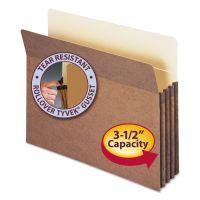 "Smead 3 1/2"" Exp Pocket, Straight Tab, Letter, Manila/Redrope, 25/Box SMD73224"