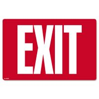 COSCO Glow-in-the-Dark Safety Sign, Exit, 12 x 8, Red COS098052