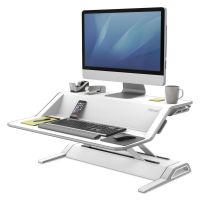 Fellowes Lotus Sit-Stand Workstation, 32 3/4 x 24 1/4 x 5 1/2 to 22 1/2, White FEL0009901