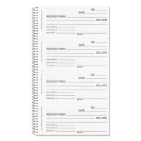 Rediform Money and Rent Unnumbered Receipt Book, 5 1/2 x 2 3/4, Two-Part, 200 Sets/Book RED23L115