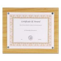 "NuDell Magnetic Series Woodgrain Plaque, Oak, 13""W, Rectangle NUD18867"