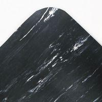 Crown Cushion-Step Surface Mat, 36 x 72, Marbleized Rubber, Black CWNCU3672BK