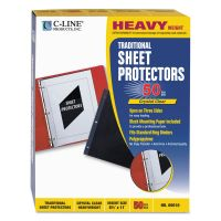 C-Line Traditional Polypropylene Sheet Protector, Letter, Heavyweight, Clear, 50/Box CLI00010