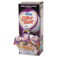 Coffee-mate Liquid Coffee Creamer, Italian Sweet Creme, 0.375oz Mini Cups,50/Bx,4 Box/CT NES84652CT