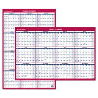 AT-A-GLANCE Erasable Vertical/Horizontal Wall Planner, 24 x 36, Blue/Red, 2019 AAGPM2628
