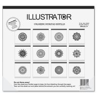 Aurora Illustrator Coloring Deskpad Refills AUA16130