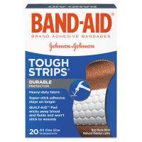 "BAND-AID Flexible Fabric Adhesive Tough Strip Bandages, 1"" x 3 1/4"", 20/Box JOJ4408"