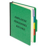 Pendaflex Personnel Folders, 1/3 Cut Top Tab, Letter, Green PFXSER1GR