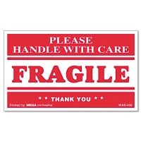 Universal FRAGILE HANDLE WITH CARE Self-Adhesive Shipping Labels, 3 x 5, 500/Roll UNV308383
