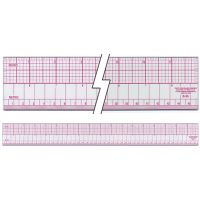 "Inch & Metric Beveled Ruler 18"" NOTM134815"