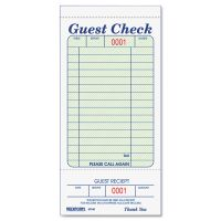 Rediform Guest Check Book, 3 3/8 x 6 1/2, Tear-Off at Bottom, 50/Book RED5F740