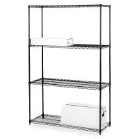 Lorell 4-Shelf Starter Unit Wire Shelving LLR70060