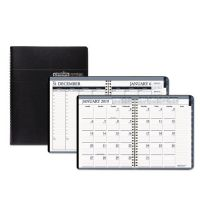 House of Doolittle Recycled Wirebound Weekly/Monthly Planner, 8 1/2 x 11, Black Leatherette, 2019 HOD28302